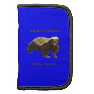 Honey Badger Don't Care On Dark Blue Background Planners