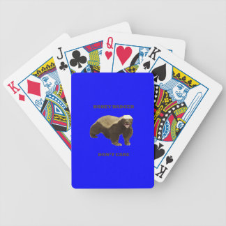 Honey Badger Don't Care On Dark Blue Background Bicycle Card Deck