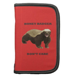 Honey Badger Don't Care On Poppy Red Background Organizer