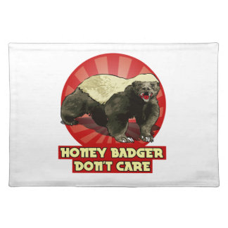 Honey Badger Don't Care Cloth Place Mat