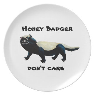 Honey Badger  don't care! Party Plate
