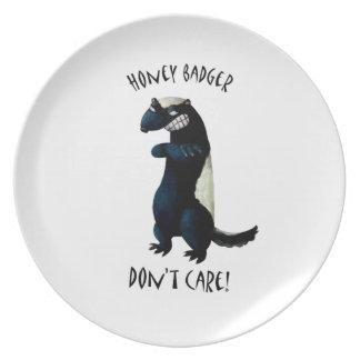 Honey Badger don't Care! Dinner Plate