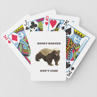 Honey Badger Don't Care Playing Cards