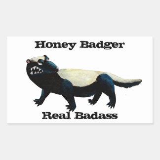 Honey Badger  don't care! Rectangle Sticker