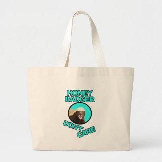 Honey Badger Don't Care Teal Bag