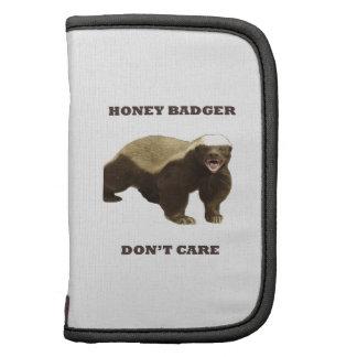 Honey Badger Don't Care. White Pattern Organizers