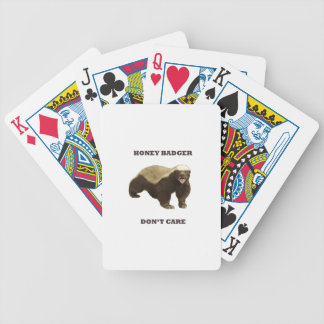 Honey Badger Don't Care. White Pattern Bicycle Card Deck
