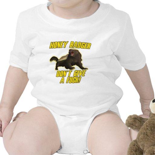 Honey Badger Don't Give A Fuck Tee Shirts