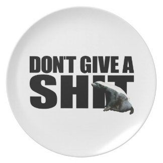 Honey Badger Don't Give A... Plate