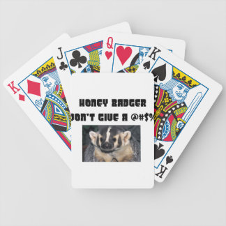 Honey Badger Don't Give a Sht Bicycle Playing Cards