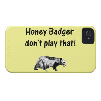 honey badger don't play that iPhone 4 covers