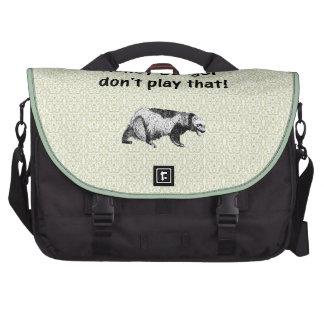 honey badger don't play that laptop commuter bag