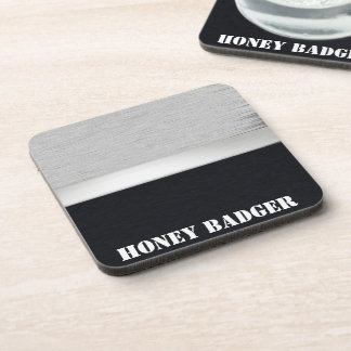 Honey badger drink coaster