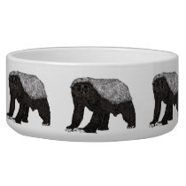 Honey Badger Fearless With Attitude Animal Design Bowl