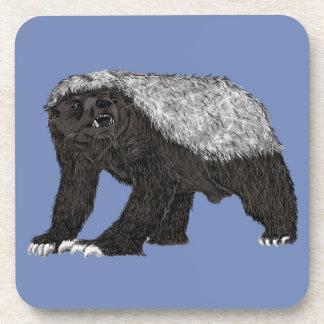Honey Badger Fearless With Attitude Animal Design Coaster