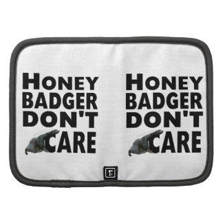 honey badger folio planners