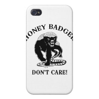 Honey Badger for light colored products iPhone 4 Case