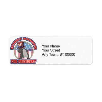 honey badger for president 2012 label
