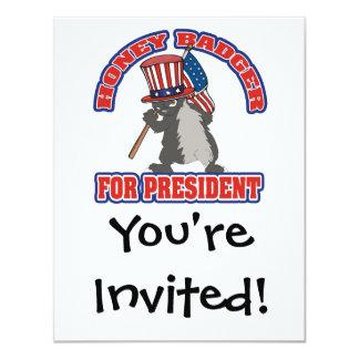 honey badger for president usa flag card