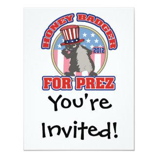 honey badger for prez 2012 card