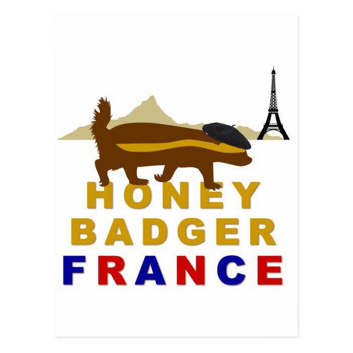 Honey Badger France Postcard
