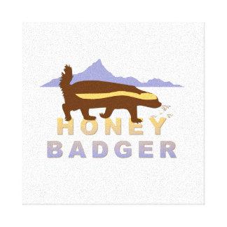 honey badger Giclée Canvas Print