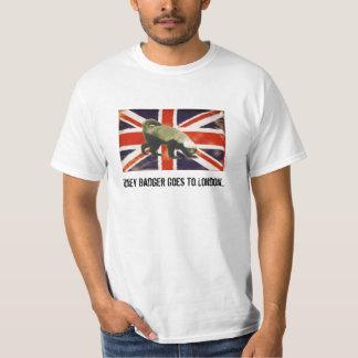 Honey Badger Goes to London Union Jack T-Shirt
