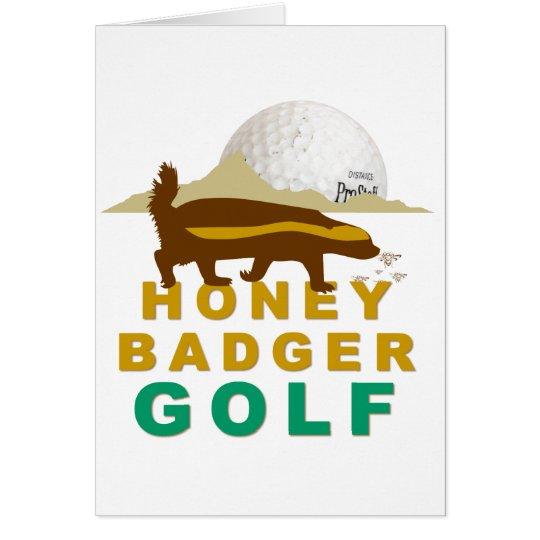honey badger golf card
