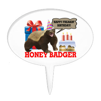 Honey Badger Happy Freakin' Birthday Cake Topper