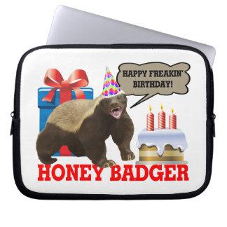 Honey Badger Happy Freakin' Birthday Computer Sleeves