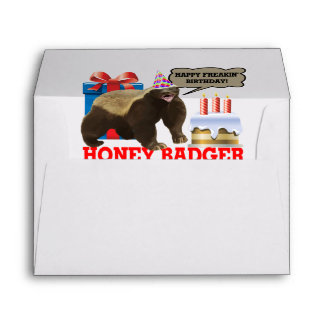 Honey Badger Happy Freakin' Birthday Envelope