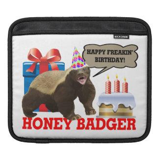 Honey Badger Happy Freakin' Birthday iPad Sleeves