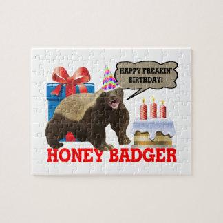 Honey Badger Happy Freakin' Birthday Jigsaw Puzzle