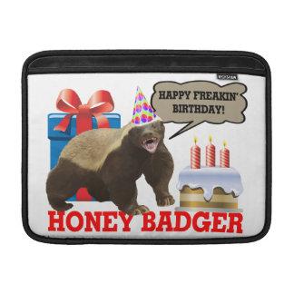 Honey Badger Happy Freakin' Birthday MacBook Sleeves