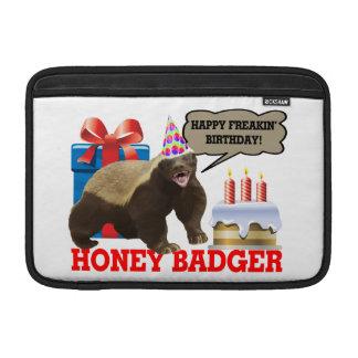 Honey Badger Happy Freakin' Birthday Sleeves For MacBook Air