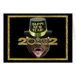 Honey Badger Happy New Year 2012 Card