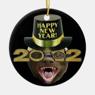 Honey Badger Happy New Year 2012 X-mas Ornament