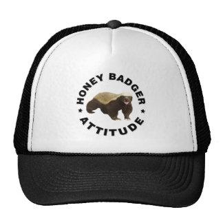 Honey badger has attitude trucker hats
