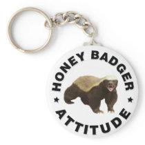 Honey badger has attitude keychain