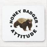 Honey badger has attitude mouse pad