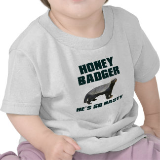 Honey Badger He s So Nasty Tshirts