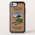 Hand shaped Honey Badger & Helicopter Speck iPhone Case