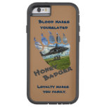 Hand shaped Honey Badger & Helicopter Tough Xtreme iPhone 6 Case