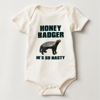 Honey Badger He's So Nasty Baby Bodysuit