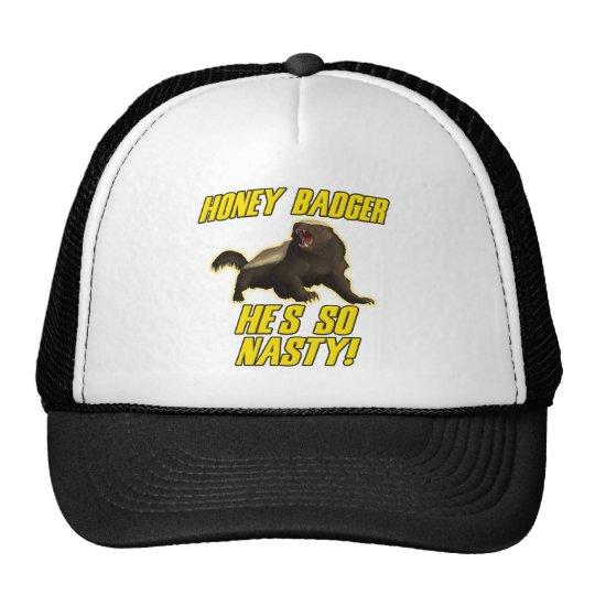 Honey Badger He's So Nasty Trucker Hat