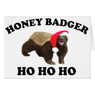 Honey Badger HO HO HO Card