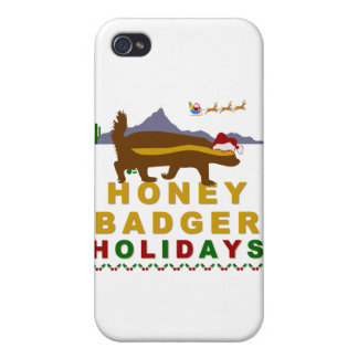 honey badger holidays case for iPhone 4