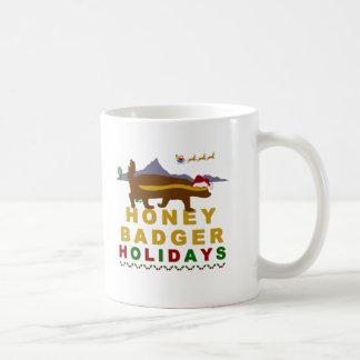 honey badger holidays mugs