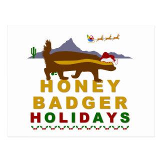 honey badger holidays post card