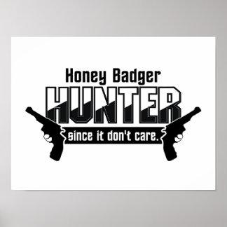 Honey Badger Hunter custom poster